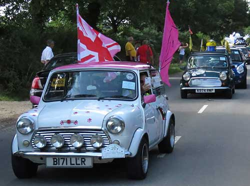 minis on the grand tour devon